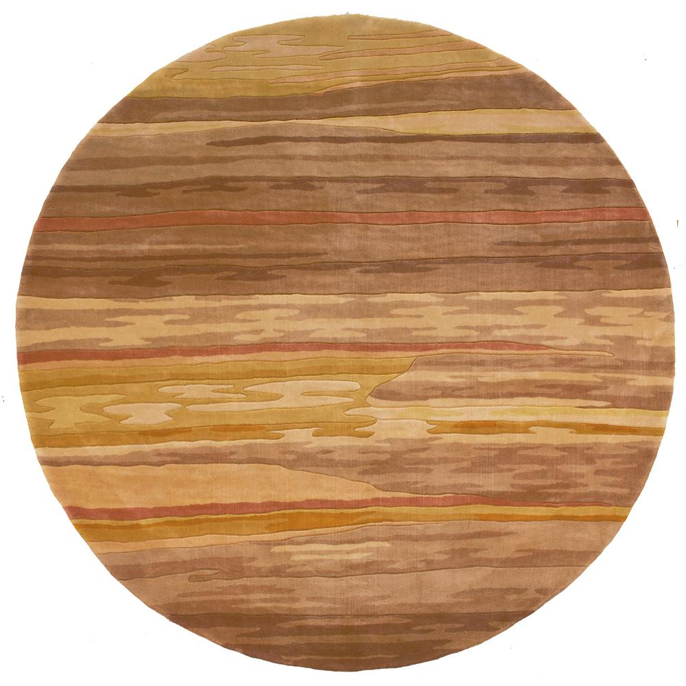 Contempo Sand 5 ft. 9 in. Round Area Rug
