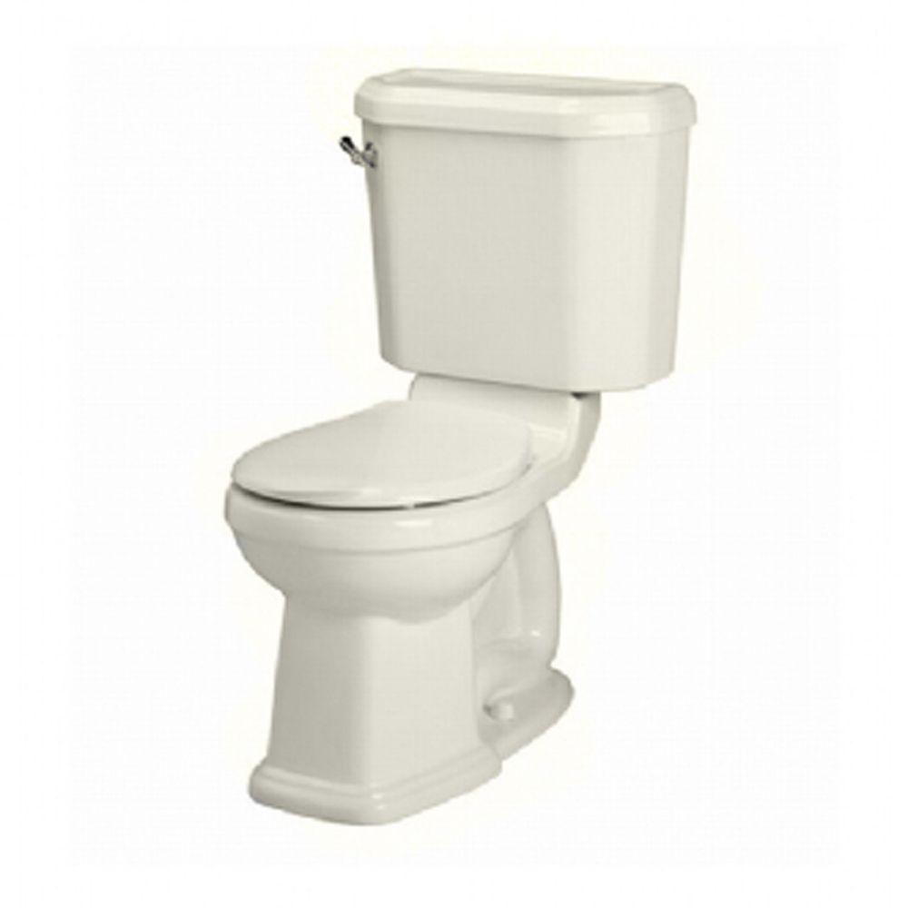 American Standard Portsmouth Champion 4 2-piece 1.6 GPF Right Height Round Front Toilet in Linen