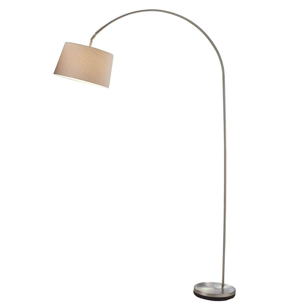 Adesso Goliath 83 in. Satin Steel Arc Lamp-5098-22 - The Home
