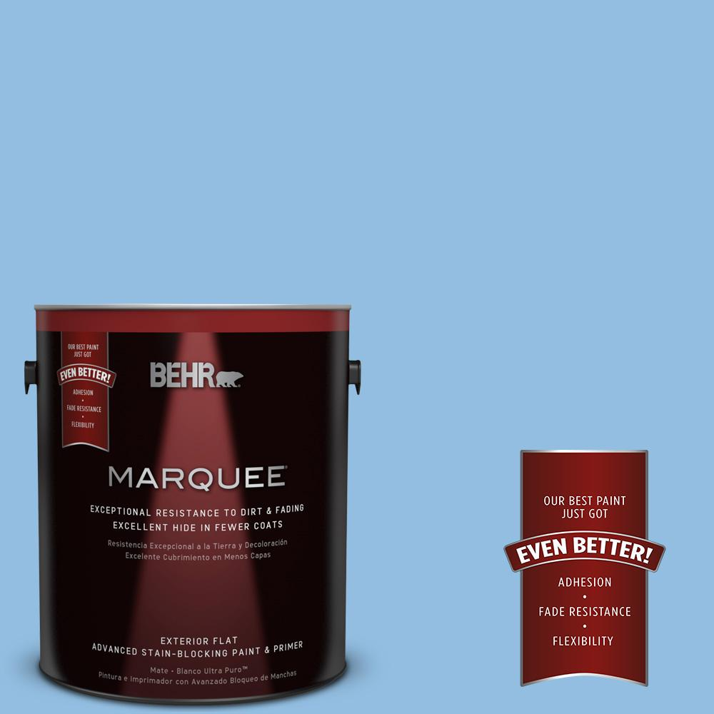 1-gal. #P520-3 Toile Blue Flat Exterior Paint