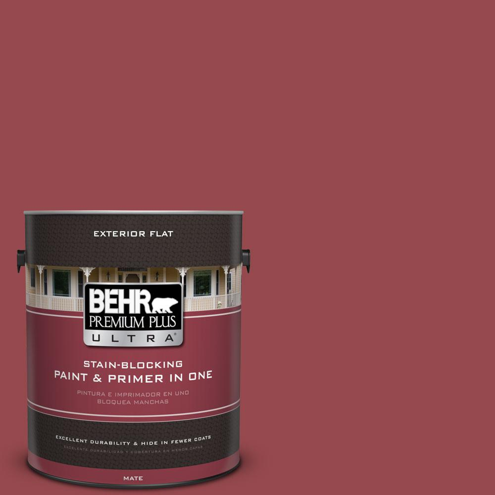 1-gal. #M140-6 Circus Red Flat Exterior Paint