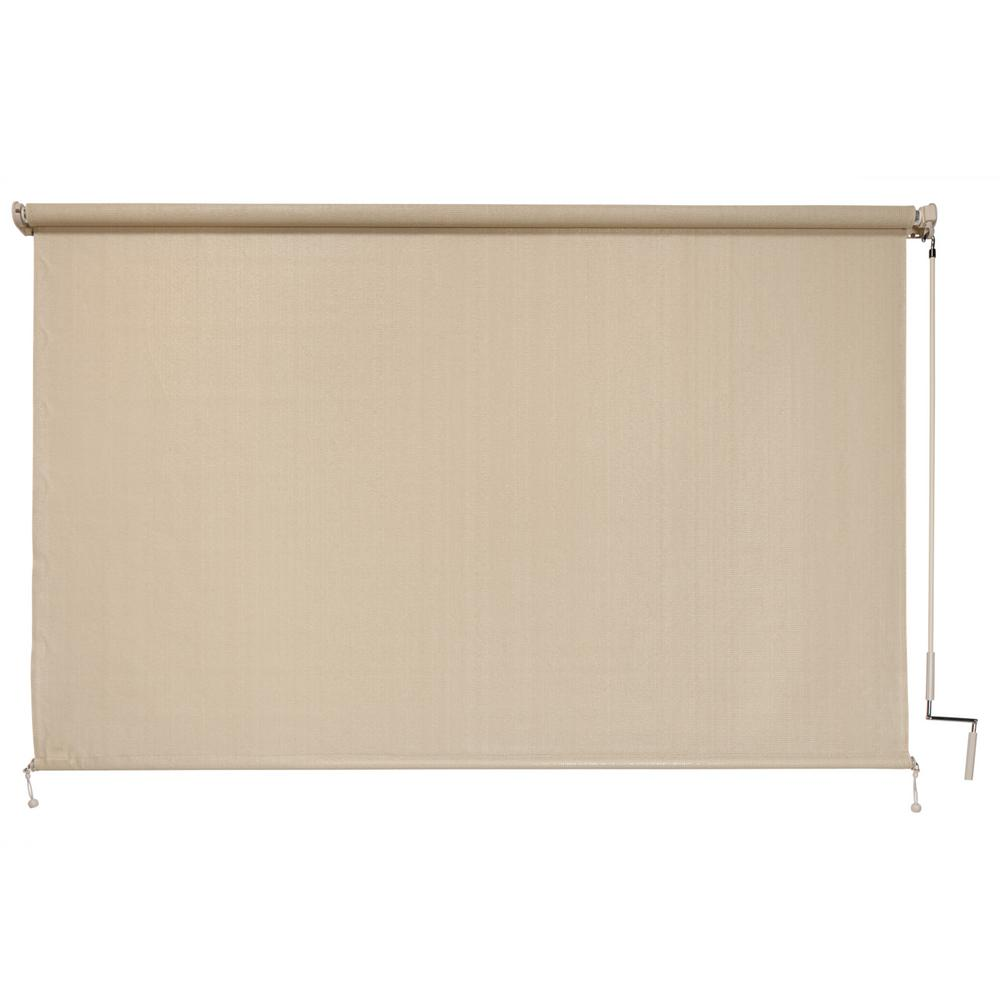 Coolaroo Sesame Exterior Roller Shade - 48 in. W x 72 in. L
