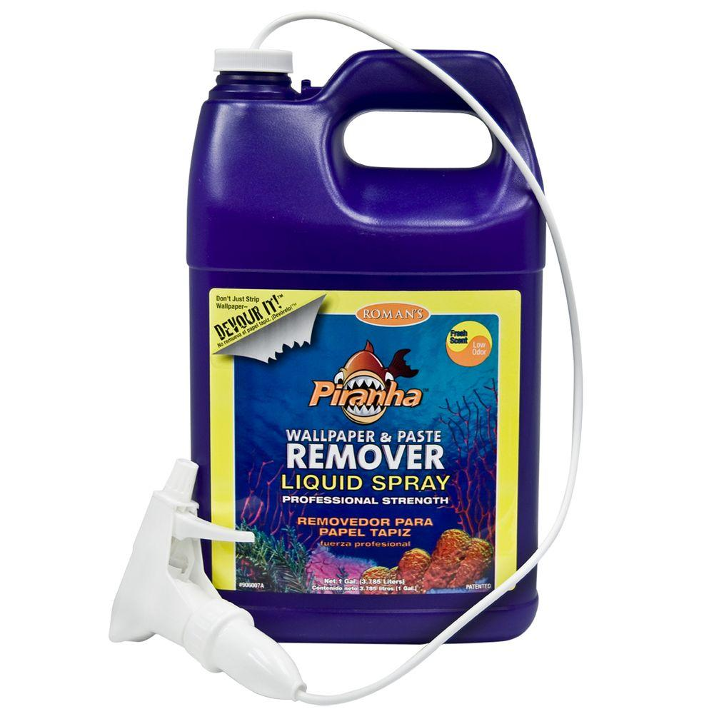 Piranha 1 gal. Ready to Use Liquid Wallpaper Remover with Sprayer
