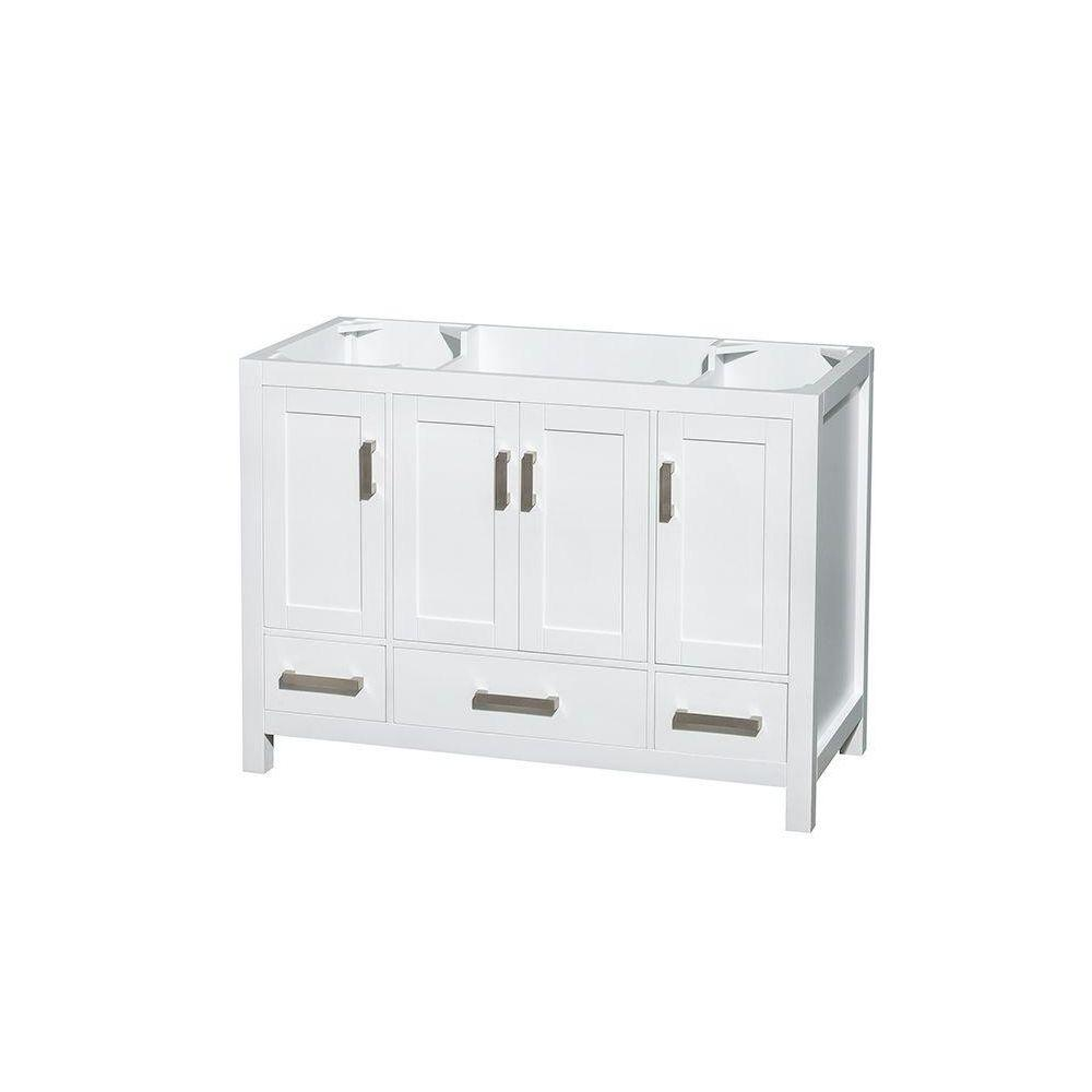 Sheffield 48 in. Vanity Cabinet Only in White