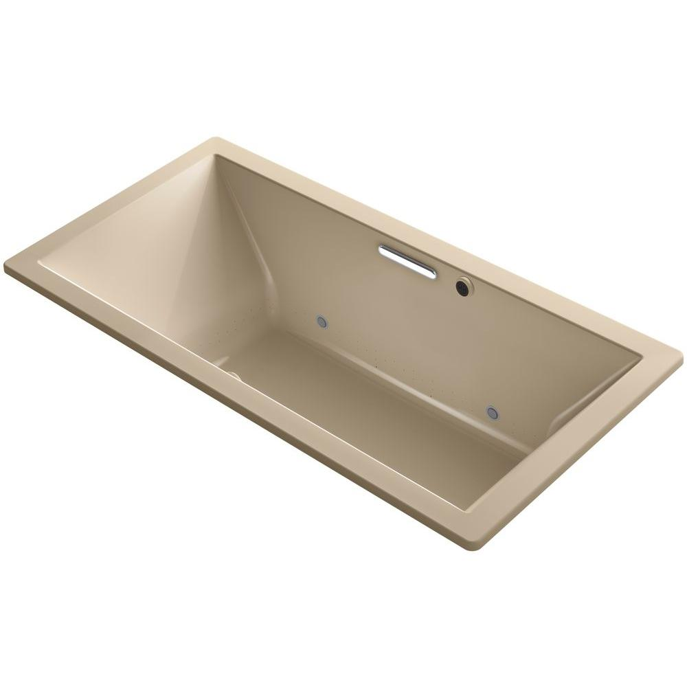 KOHLER Underscore 6 ft. Air Bath Tub in Mexican Sand