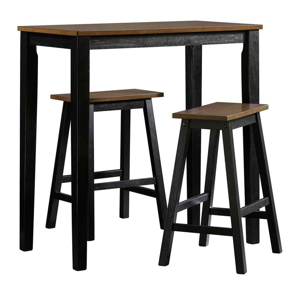 Beginnings Collection 3-Piece Counter-Height Dining Set in Cherry/Black