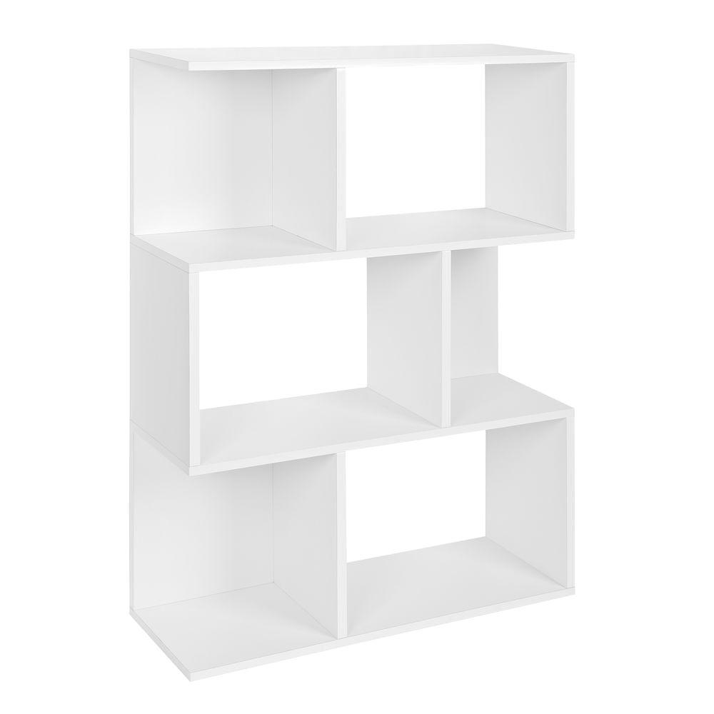 Madison 3 Shelf Bookcase, Room Divider, Storage Shelf in White