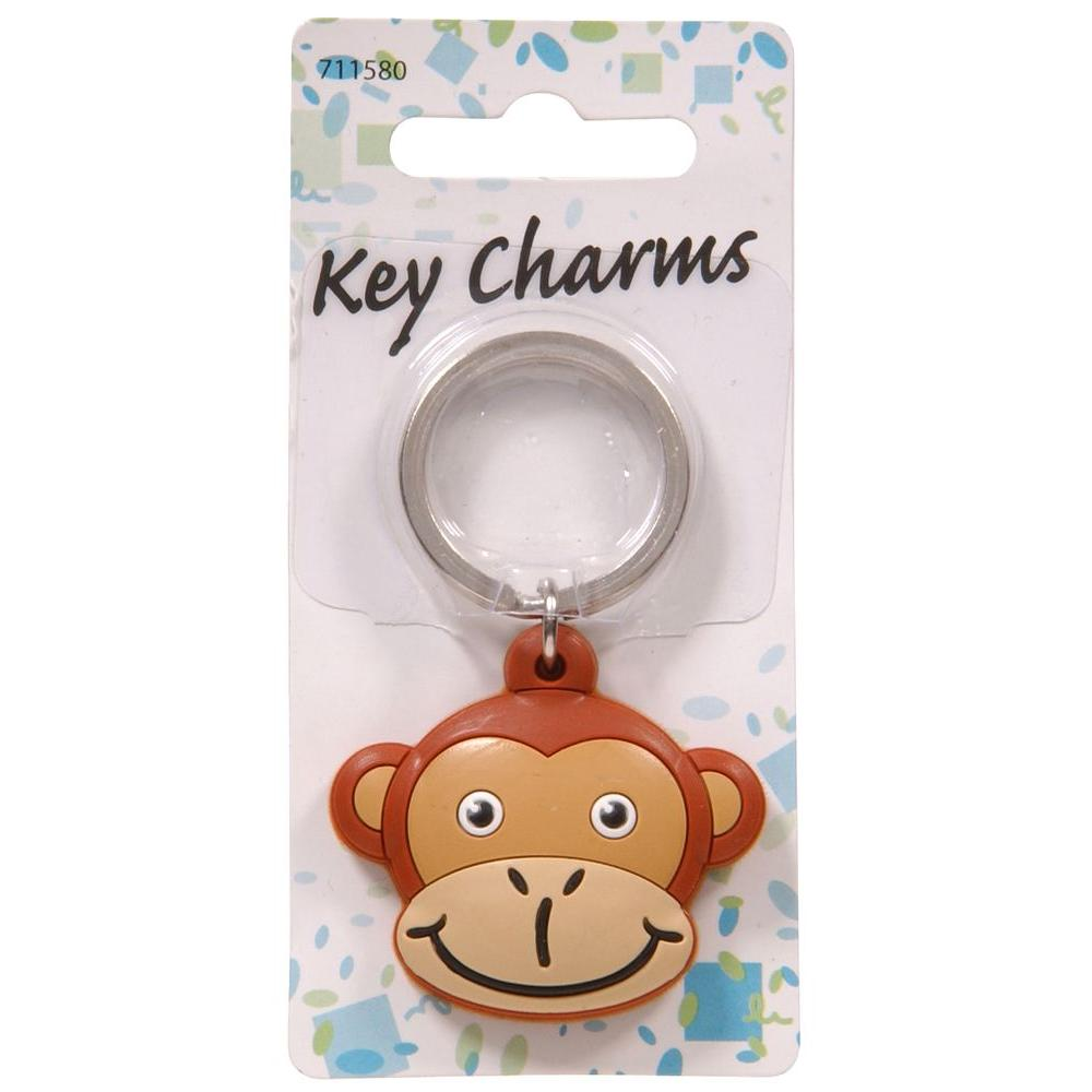 The Hillman Group Monkey Head Key Chain (3-Pack)-711580 - The Home