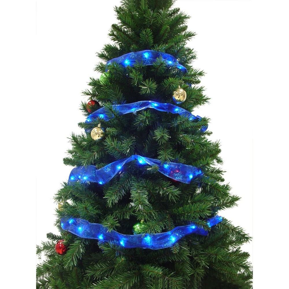 Starlite Creations 12 ft. 36-LED Blue Ribbon Lights-RL33-B012-A - The Home