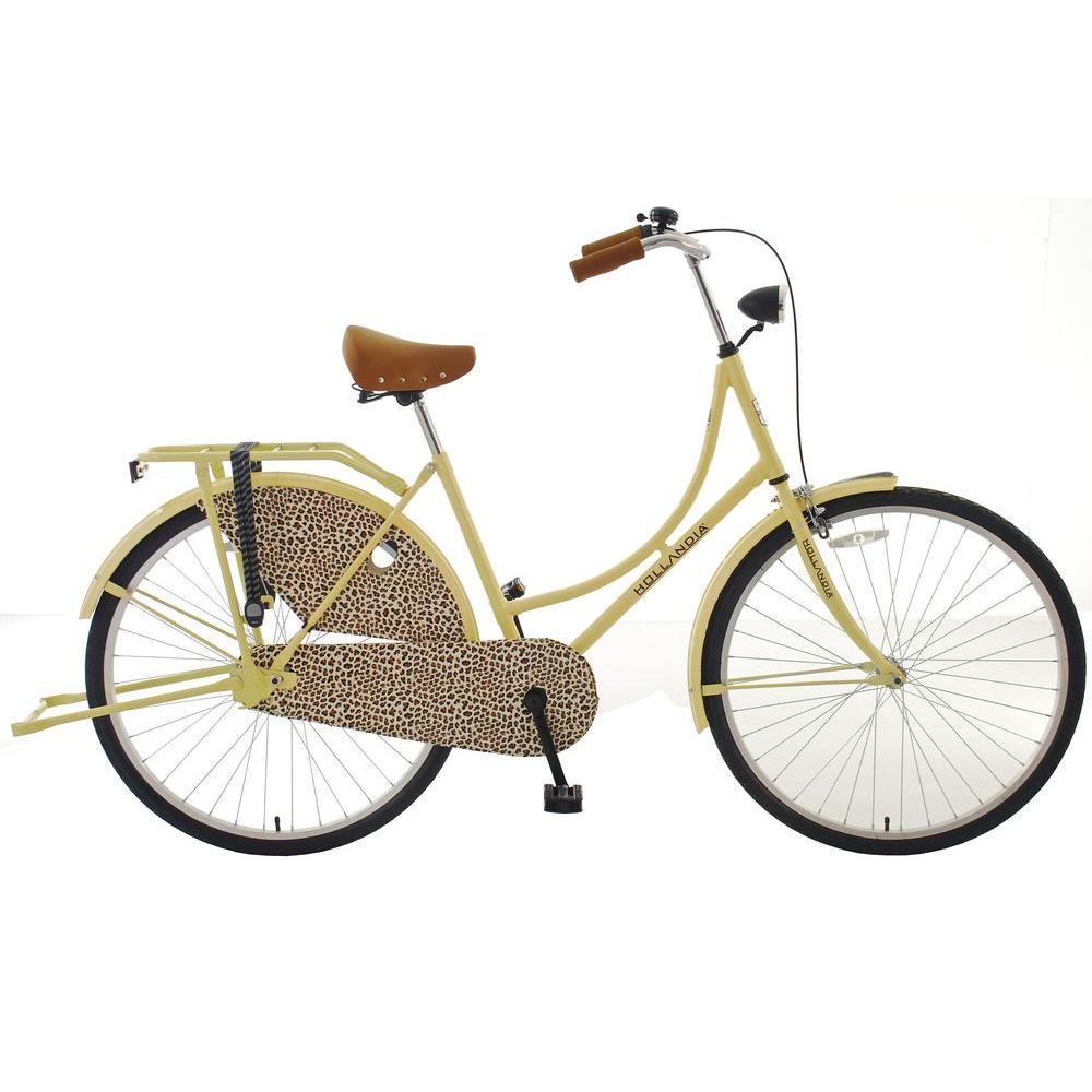 City Leopard Dutch Cruiser Bicycle with Chain Guard and Dress Guard,