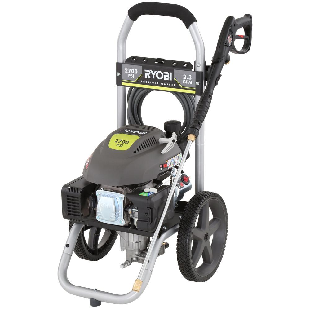 Ryobi 2700-PSI 2.3-GPM Gas Pressure Washer-RY802700A - The Home Depot