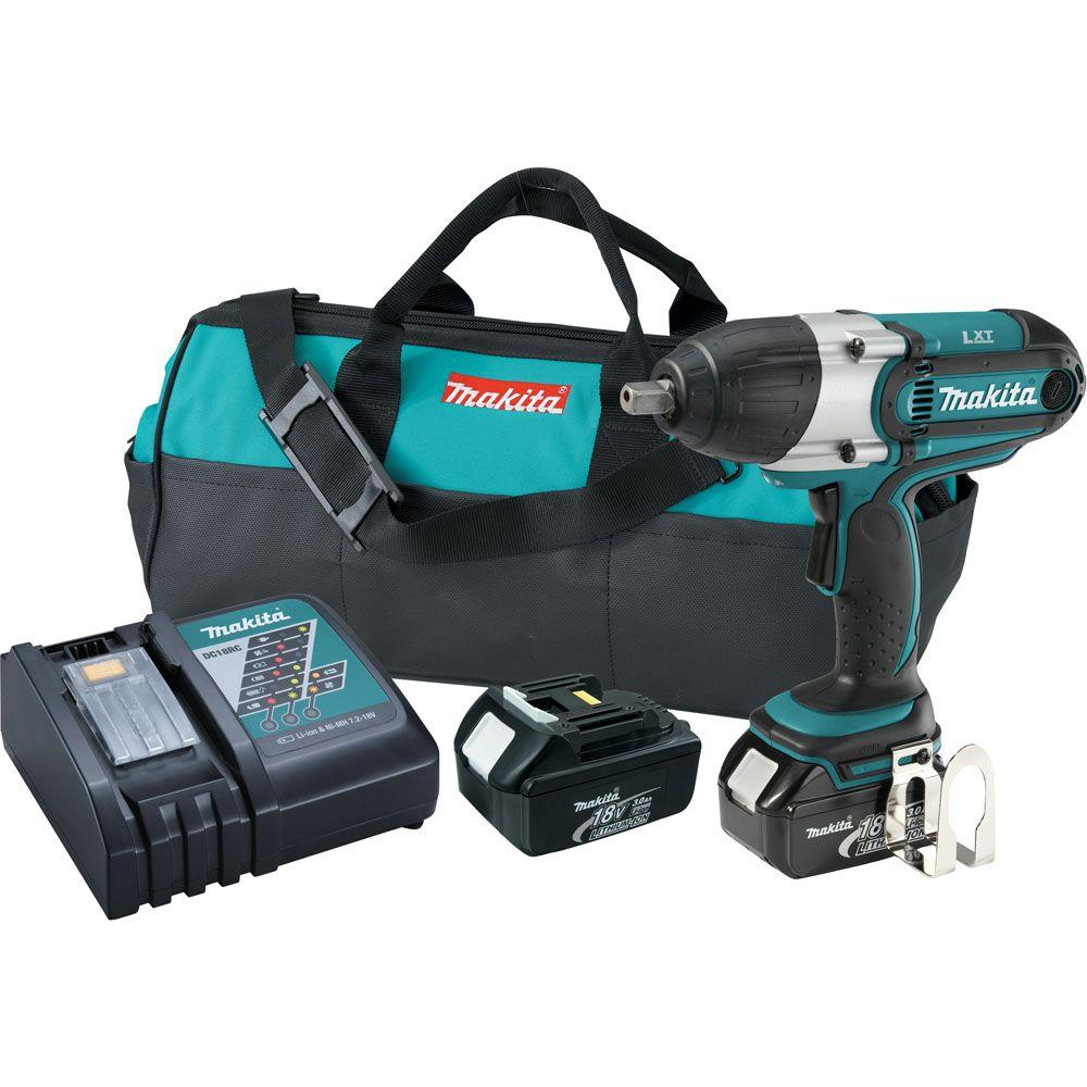 Makita 18-Volt LXT Lithium-Ion Cordless 1/2 in. High Torque Impact Wrench Kit
