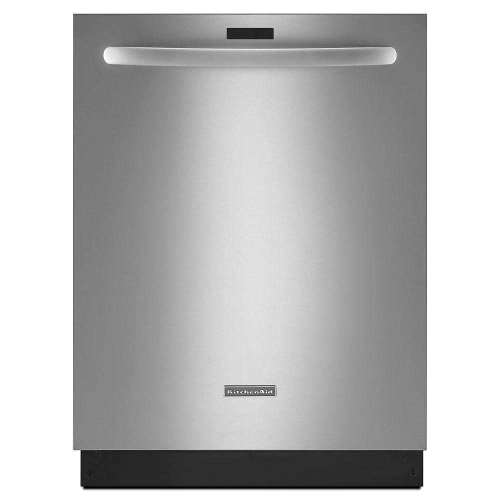 KitchenAid Architect Series II Top Control Dishwasher in Stainless Steel with Stainless Steel Tub, ProScrub Trio Option, 39 dBA