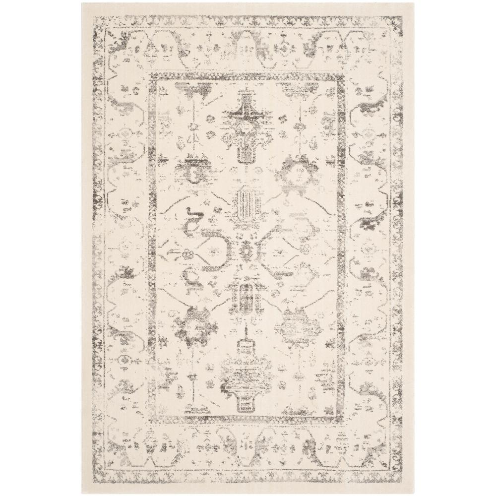 Porcello Ivory/Light Gray 6 ft. 7 in. x 9 ft. 6