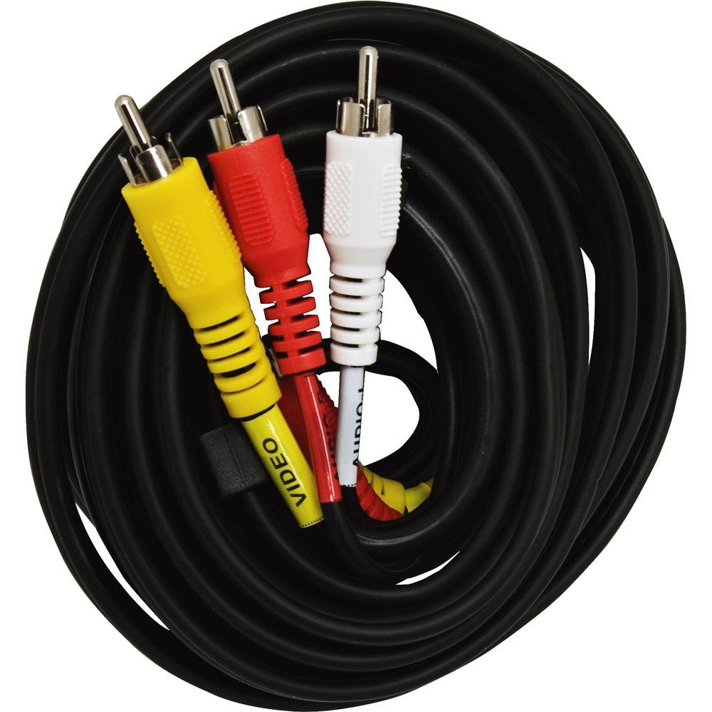 GE 6 ft. Audio/Video Cable - Black