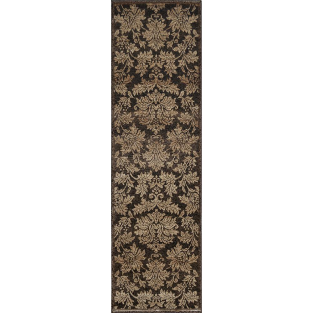 Home Dynamix Triumph Brown/Gold 2 ft. 2 in. x 7 ft. 6 in. Indoor Rug Runner
