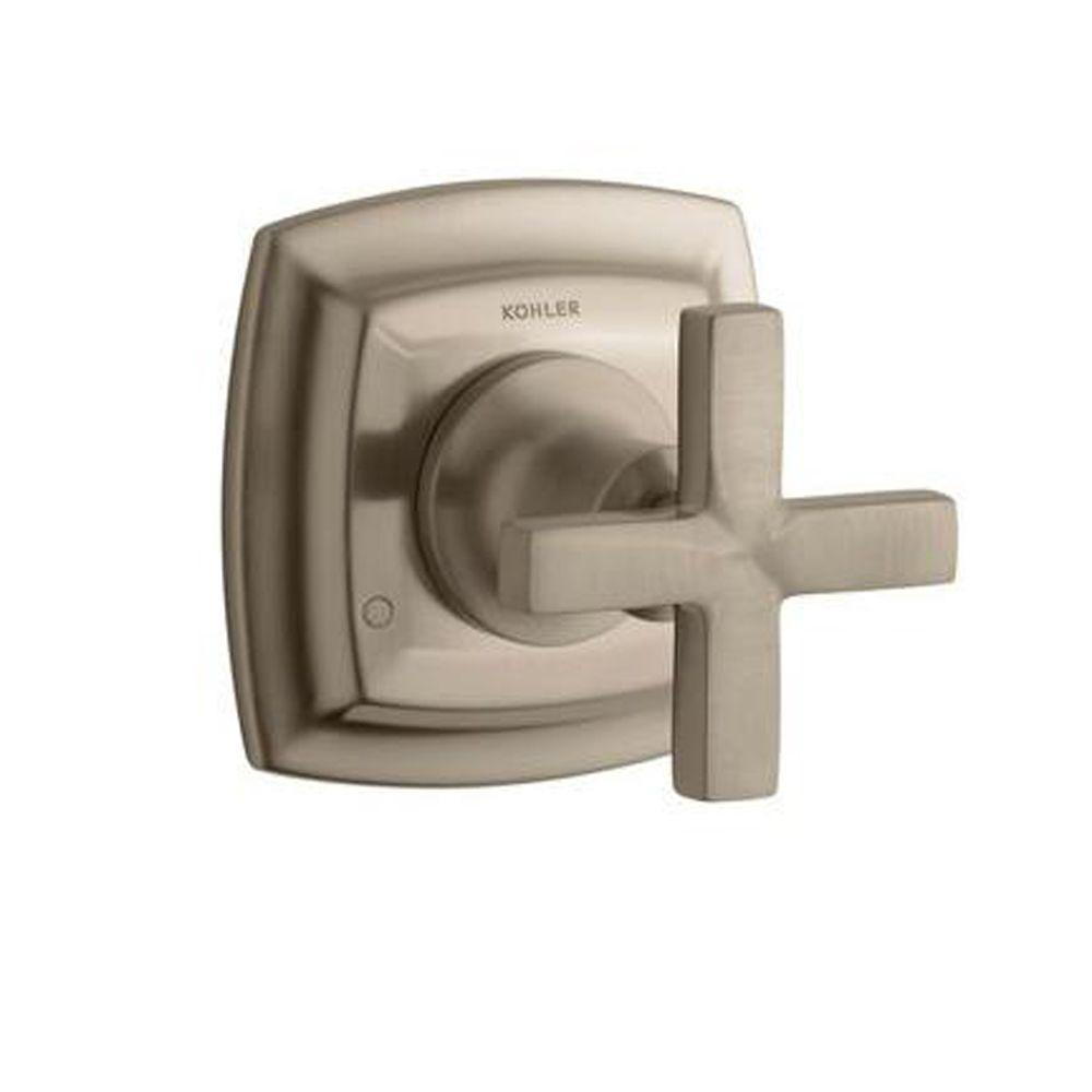 Margaux 1-Handle Transfer Valve Trim Kit in Vibrant Brushed Bronze with