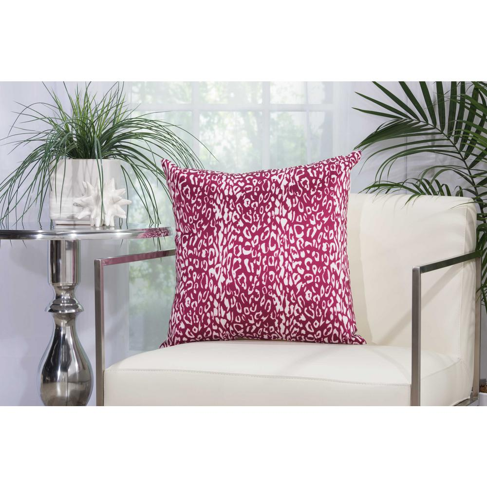 Leopard 20 in. Lilac Indoor and Outdoor Pillow