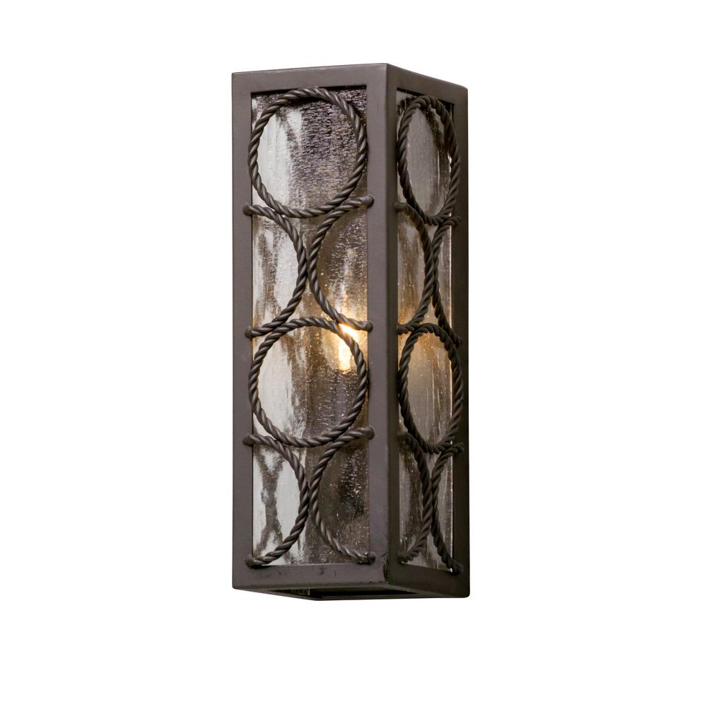 Bacchus Textured Bronze Outdoor Wall Mount Sconce
