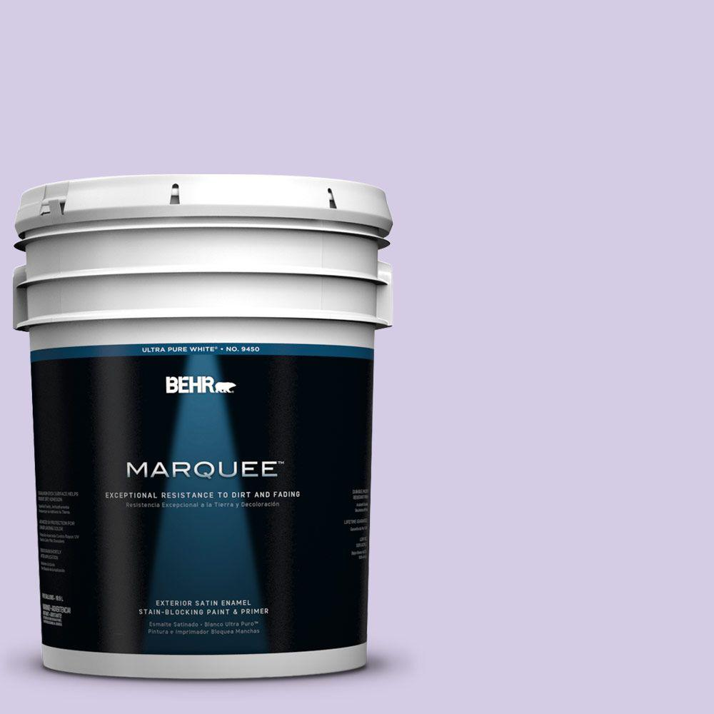 BEHR MARQUEE 5-gal. #640A-3 Potentially Purple Satin Enamel Exterior Paint