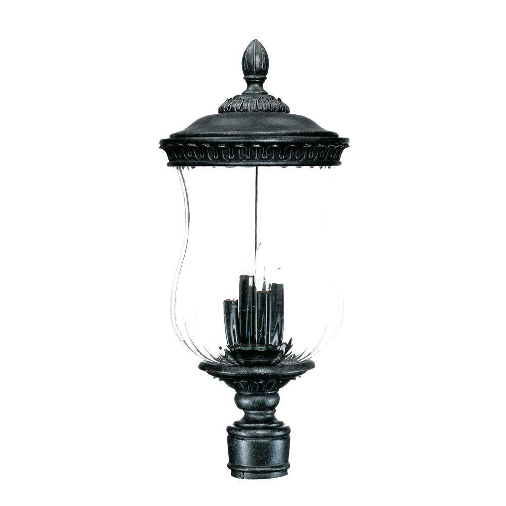 Acclaim Lighting Bel Air Collection Post-Mount 4-Light Outdoor Stone Light Fixture-DISCONTINUED