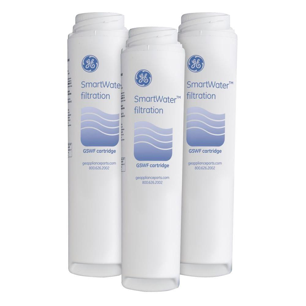 Ge Refrigerator Filter Replacement Cartridge Genuine Replacement Refrigerator Water Filter 3 Pack Gswfhd3pk