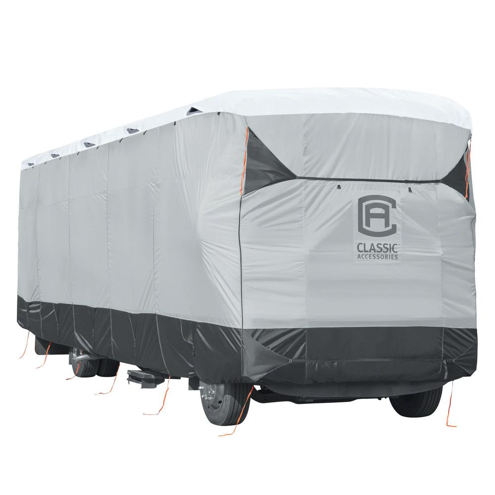 Skyshield 372 in. L x 105 in. W x 116 in. H Class A RV Cover, Black/Grey And Snow White