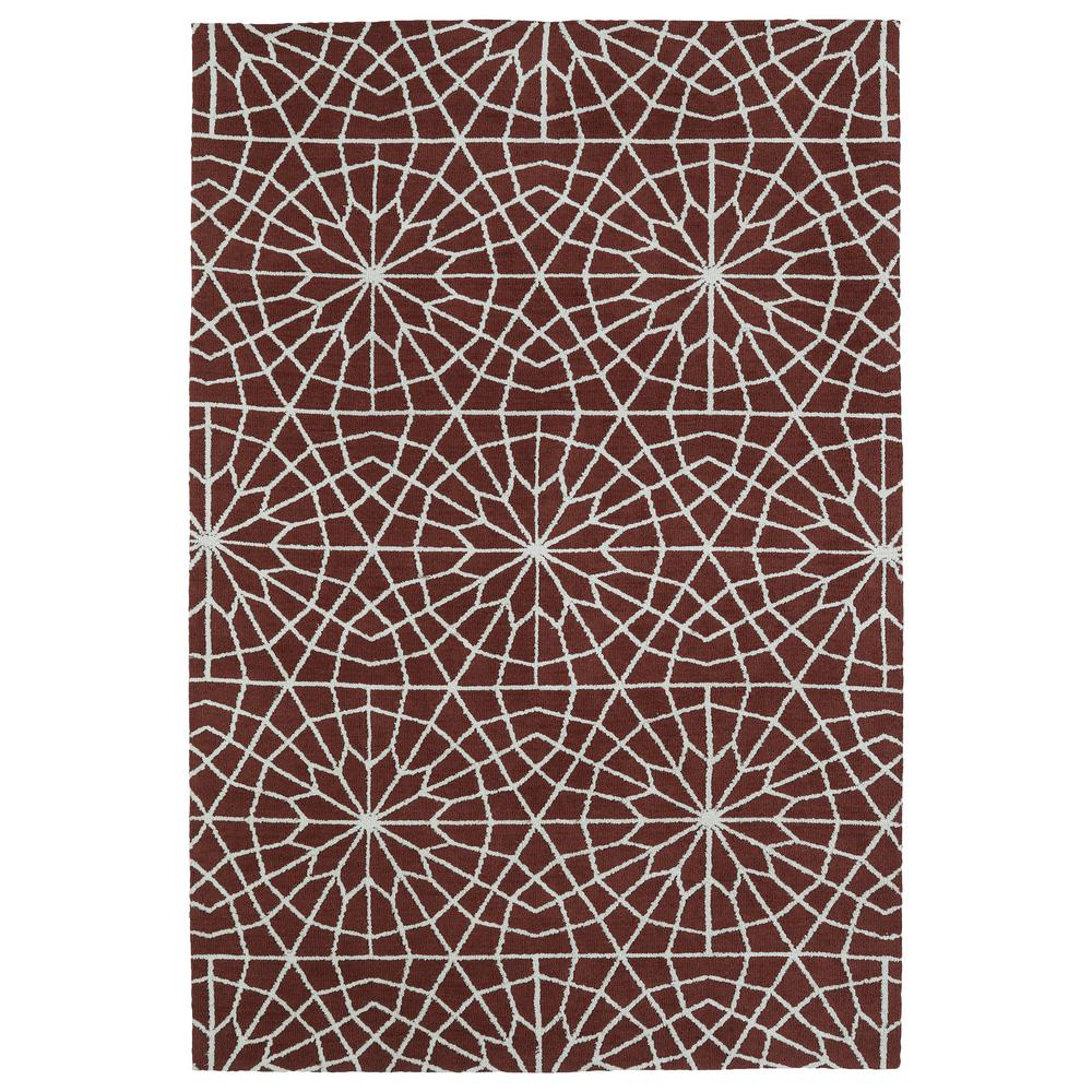 Cozy Toes Burgundy 5 ft. x 7 ft. Area Rug