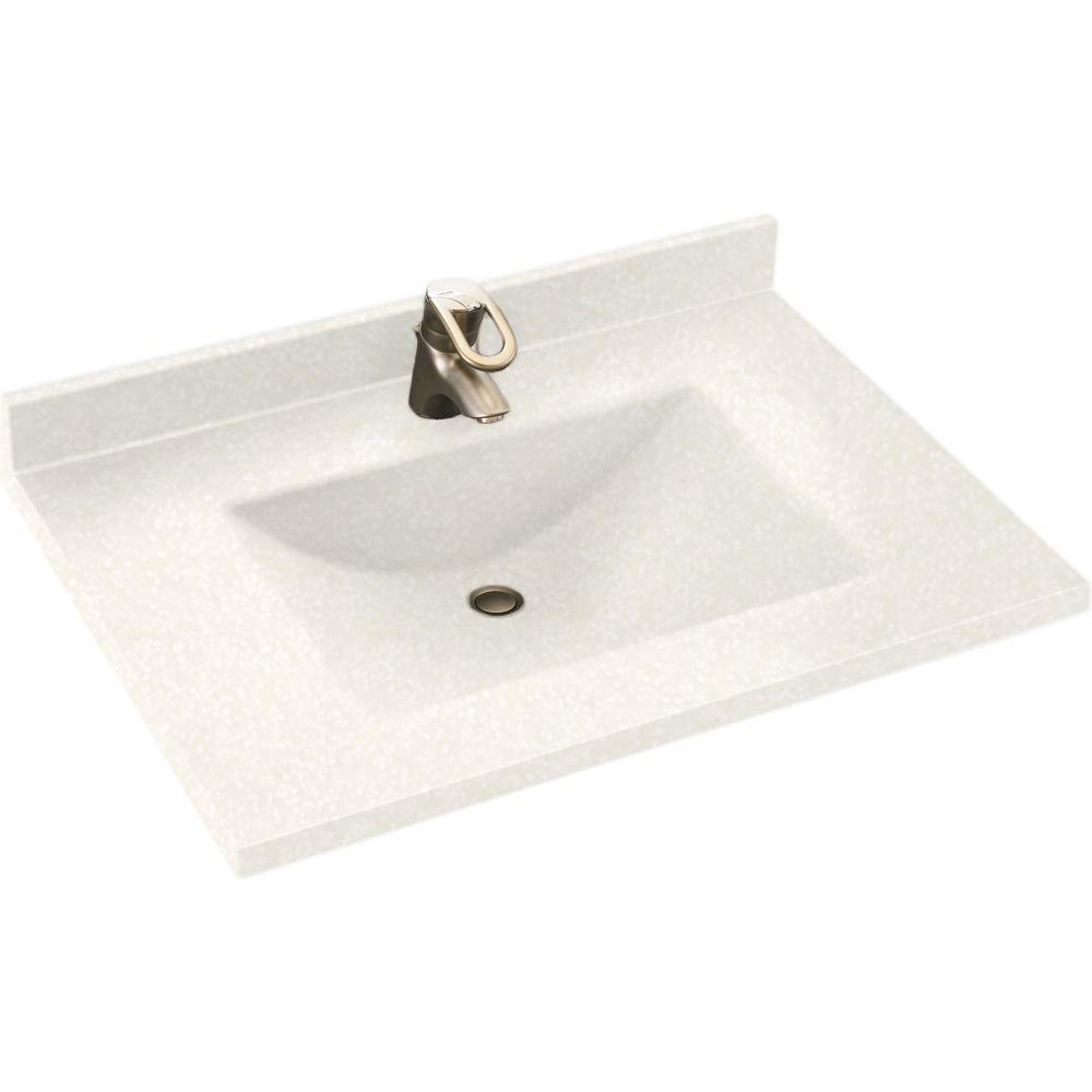 Swan Contour 43 In Solid Surface Vanity Top In White With