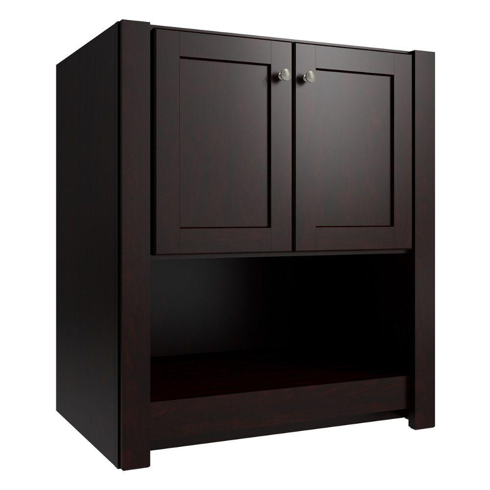 Cardell Balin 30 in. W x 21 in. D x 34.5 in. H Vanity Cabinet Only in Twilight