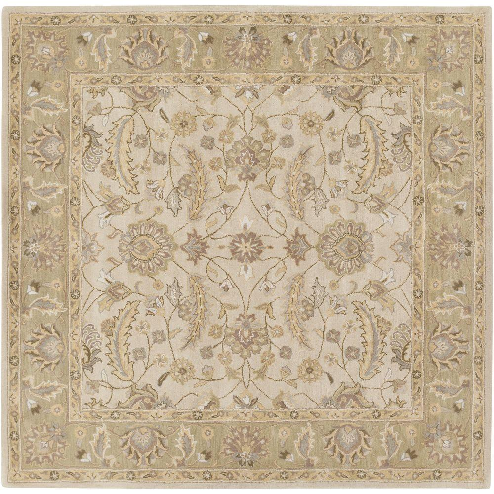 Charles Beige 6 ft. x 6 ft. Square Indoor Area Rug