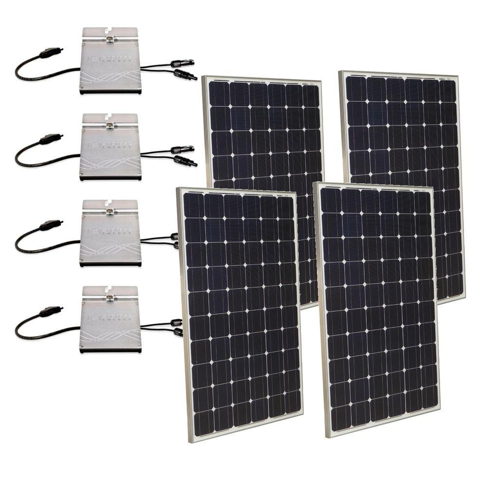 Grape Solar 1,000-Watt Expandable Monocrystalline PV Grid-Tied Solar Power Kit-DISCONTINUED