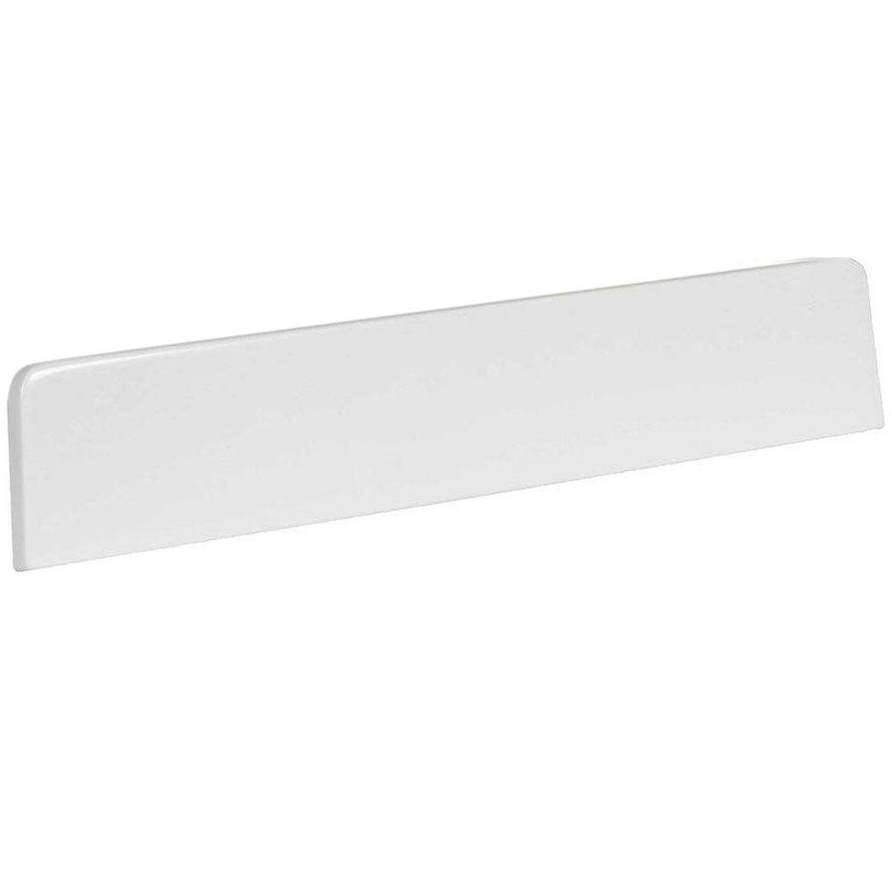 St. Paul 18 in. Cultured Marble Lite Sidesplash in White