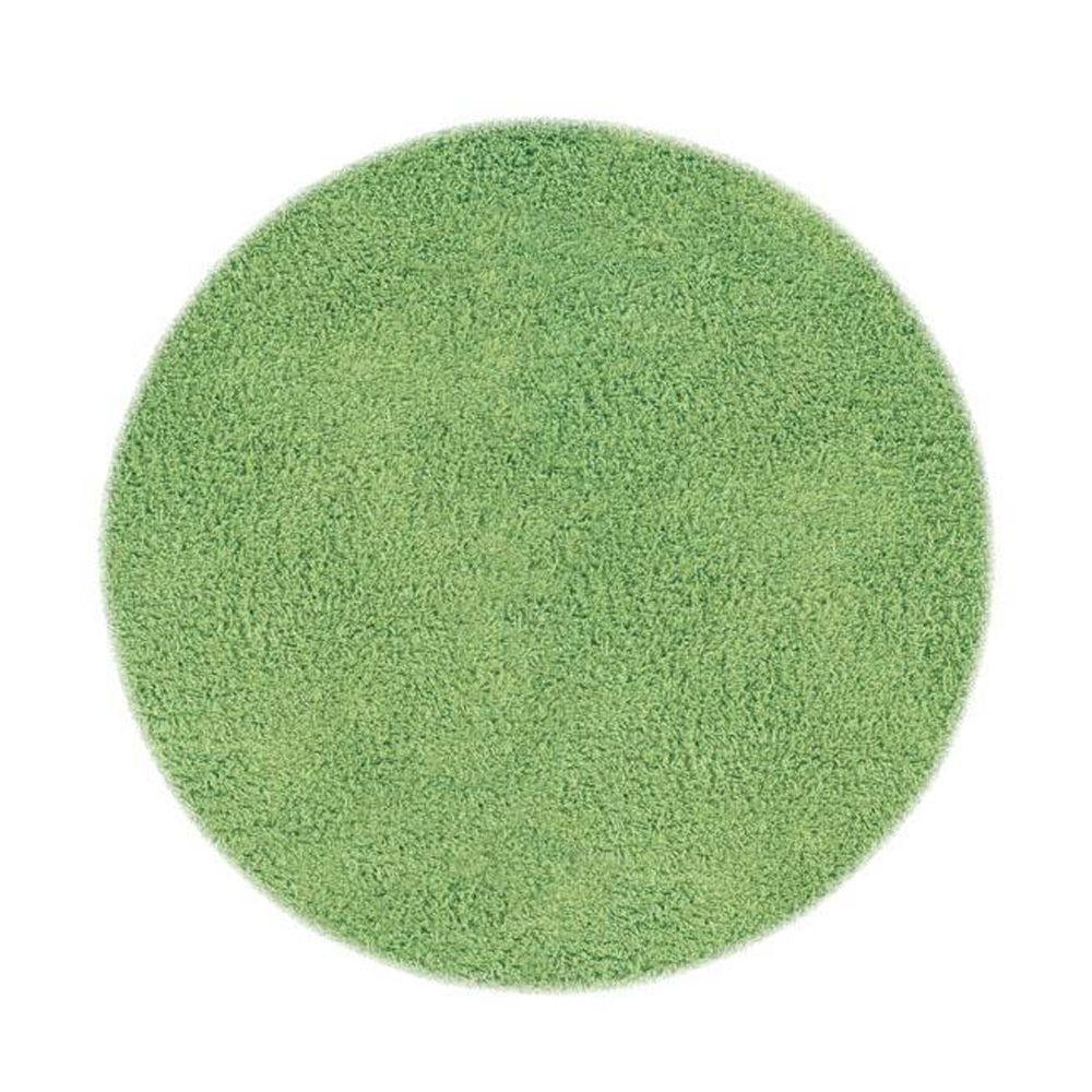 Home Decorators Collection Ultimate Shag Lime Green 8 ft. Round Area Rug