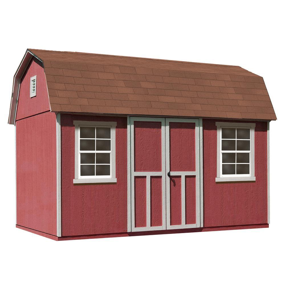Installed Briarwood Deluxe 12 ft. x 8 ft. Wood Storage Shed
