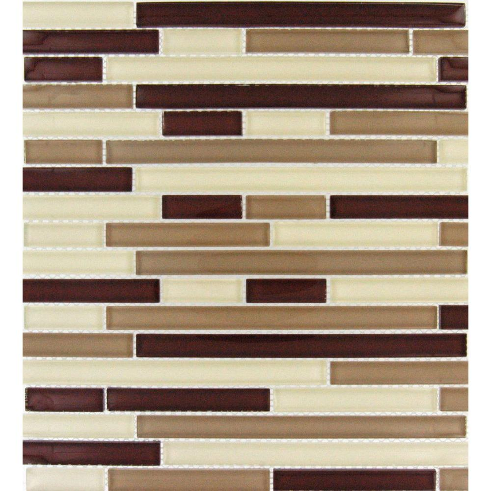 MS International Sedona Blend 12 in. x 12 in. x 8 mm Glass Mesh-Mounted Mosaic Tile