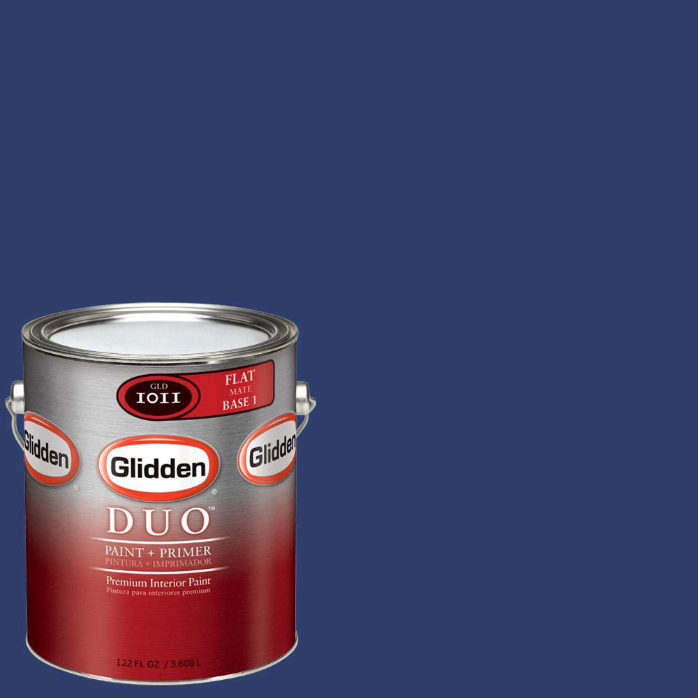 Glidden Team Colors 1-gal. #NFL-091A NFL New York Giants Dark Blue Flat Interior Paint and Primer
