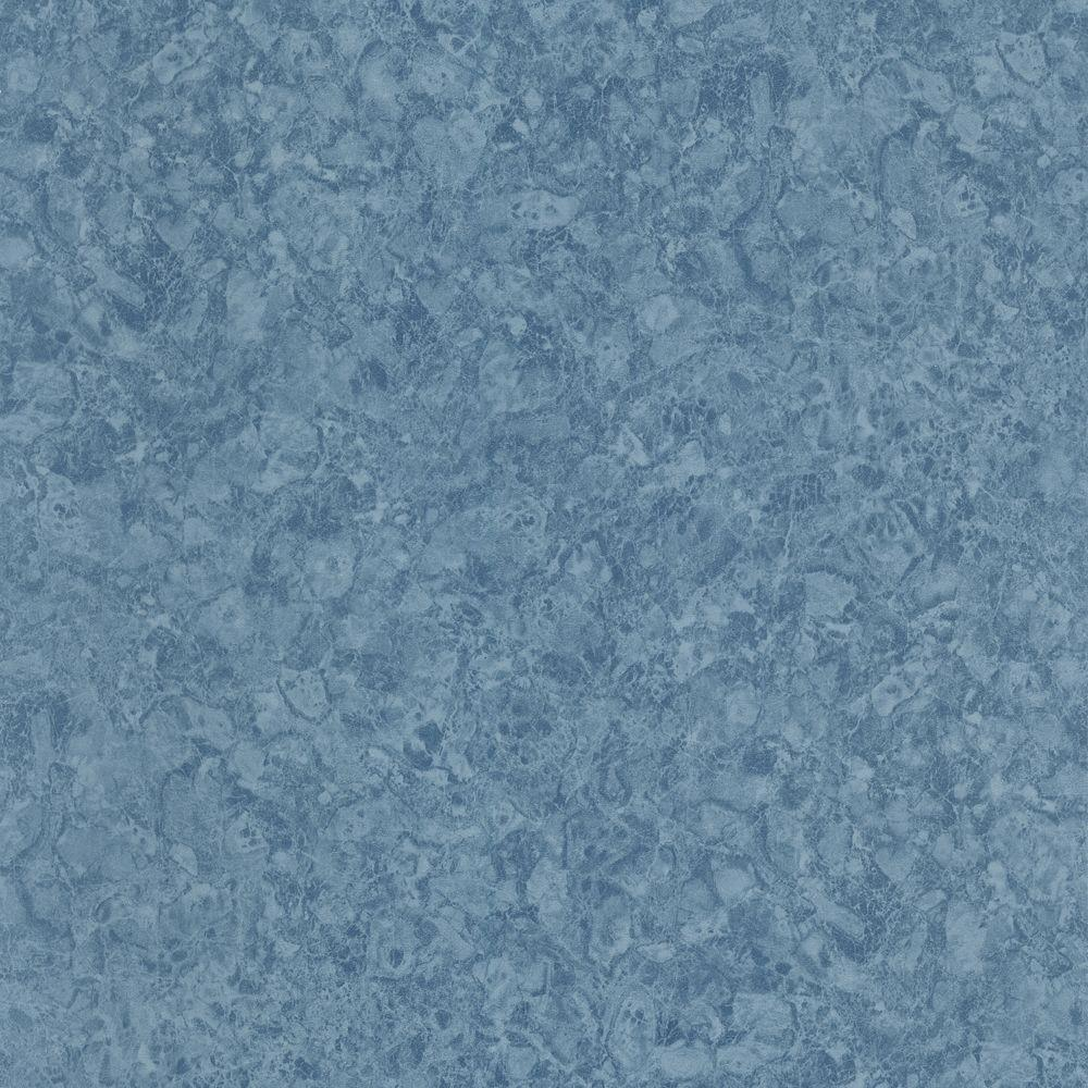 The Wallpaper Company 56 sq. ft. Blue Marble Wallpaper