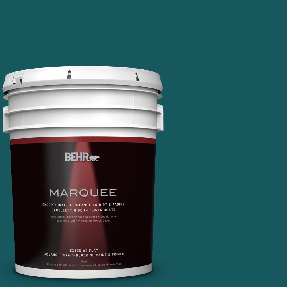 BEHR MARQUEE 5-gal. #S-H-510 Moonlit Pool Flat Exterior Paint
