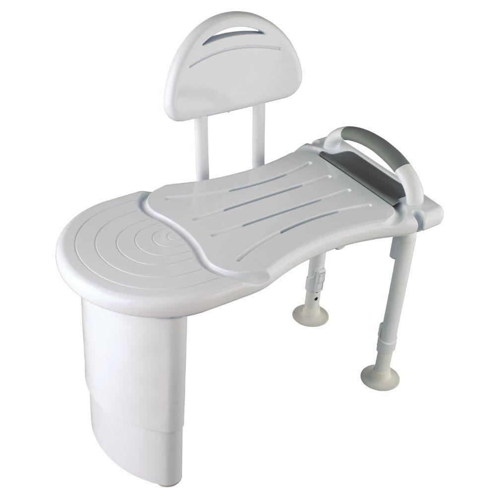 Safety First Designer Solid Surface Tub Transfer Bench in White-DISCONTINUED