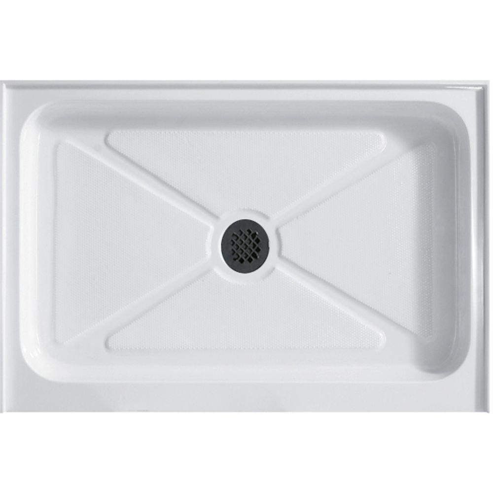 32 in. x 48 in. Single Threshold Rectangular Shower Tray in White