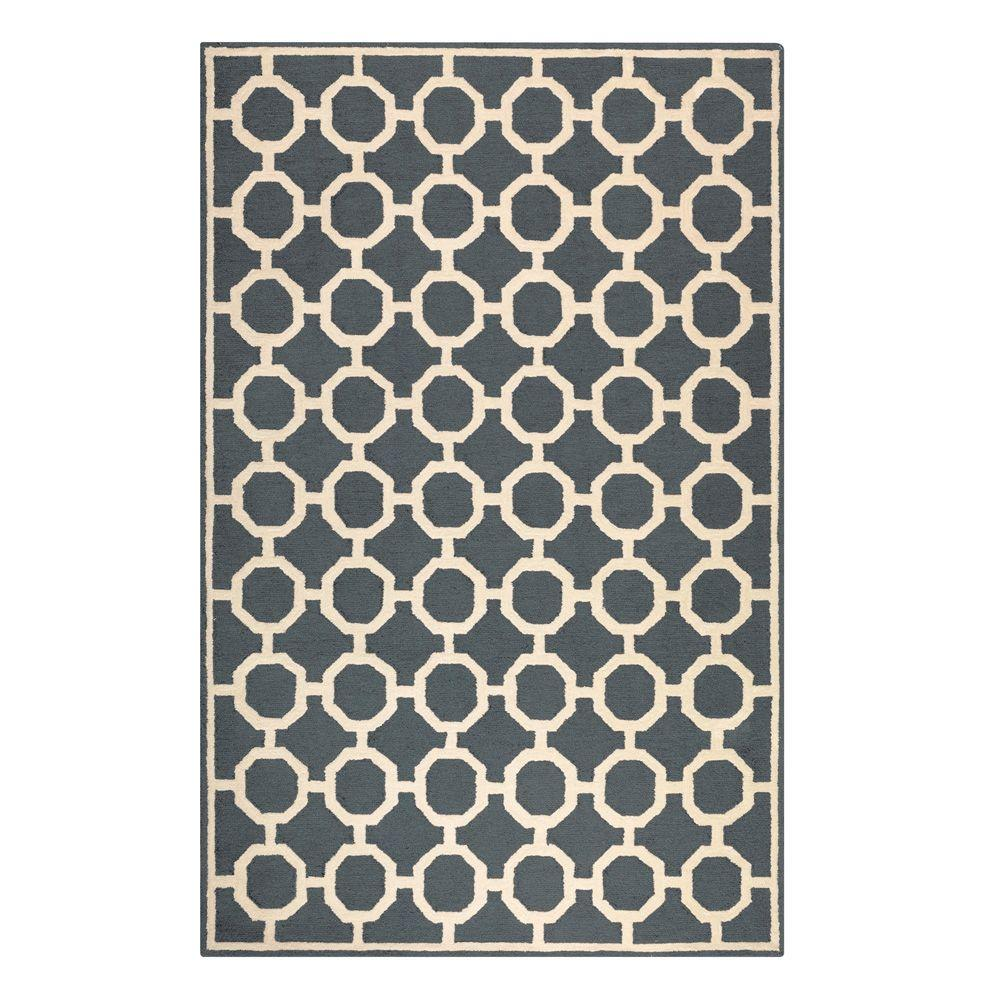 Home Decorators Collection Espana Charcoal 7 ft. 6 in. x 9 ft. 6 in. Area Rug