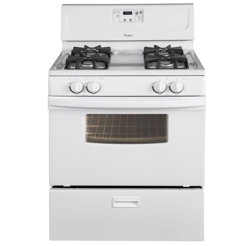 4.4 cu. ft. Gas Range in White-DISCONTINUED