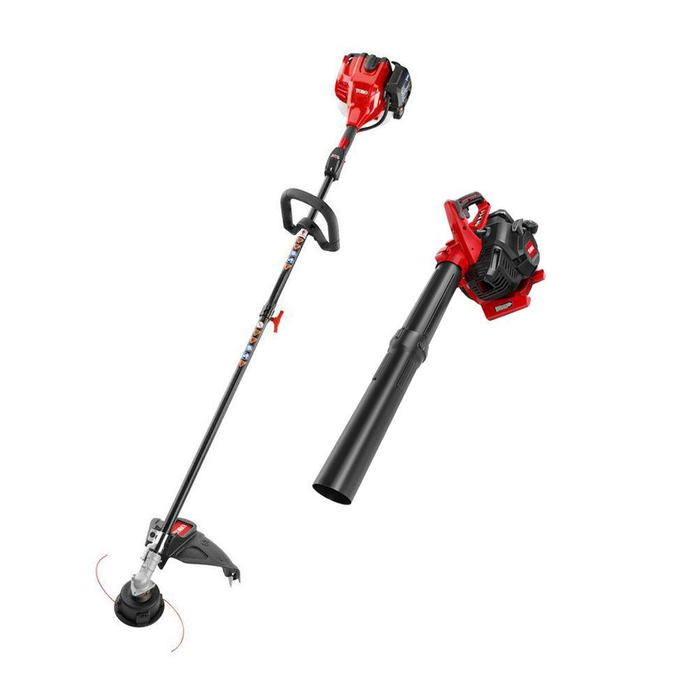 2-Cycle Straight Shaft Gas String Trimmer and Blower Combo Kit (2-Tool)