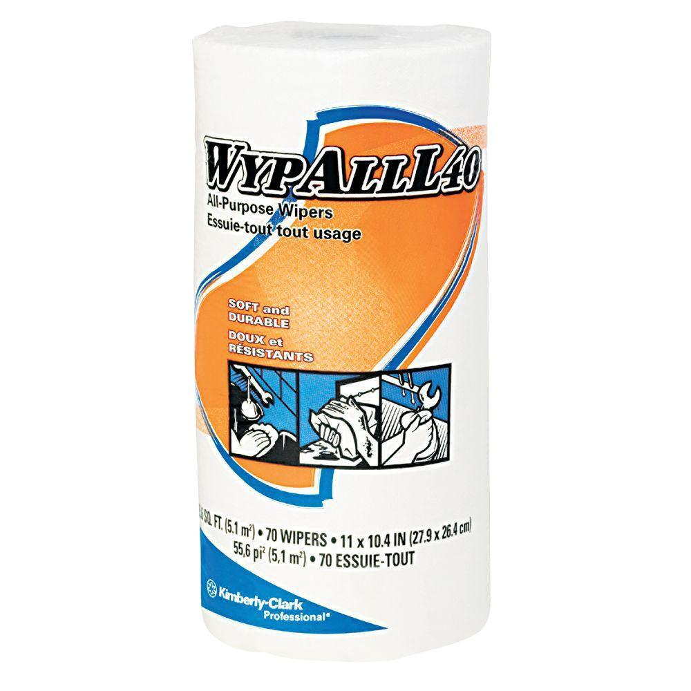 WYPALL L40 White Perforated Wipers Small Roll (24 Rolls of 70