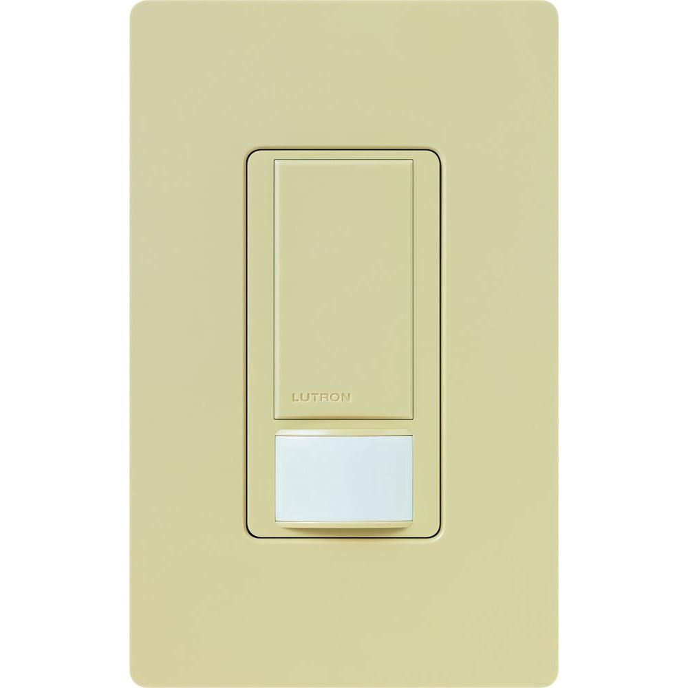 Lutron Maestro 6 Amp Single-Pole/Multi-Location/3-Way Dual-Voltage Switch with Vacancy Sensor - Ivory