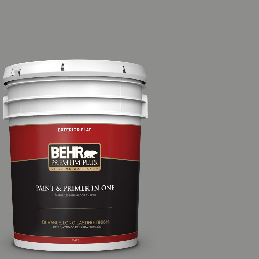 5 gal. #PPU24-20 Letter Gray Flat Exterior Paint