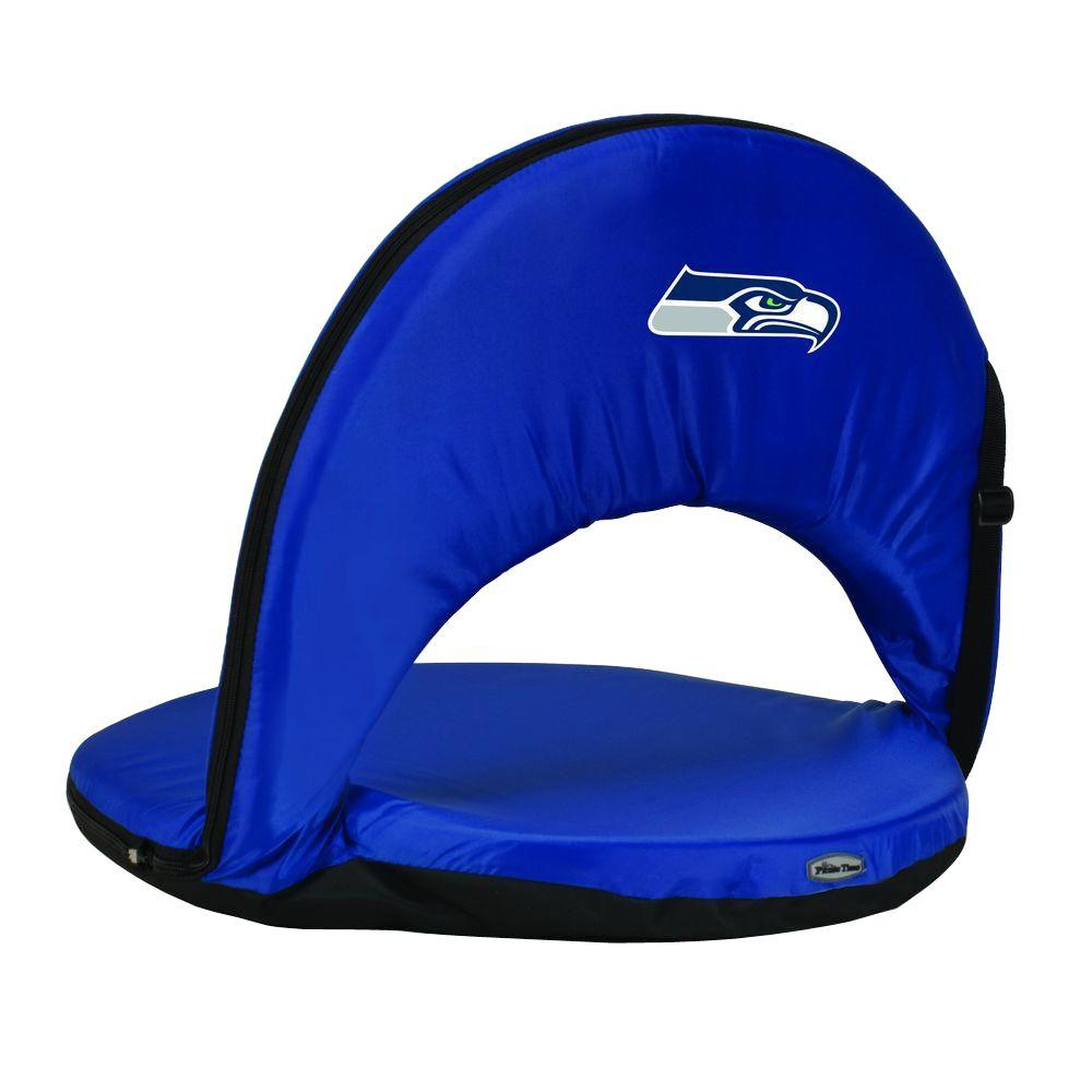 Picnic Time Oniva Seattle Seahawks Black Patio Sports Chair with Digital