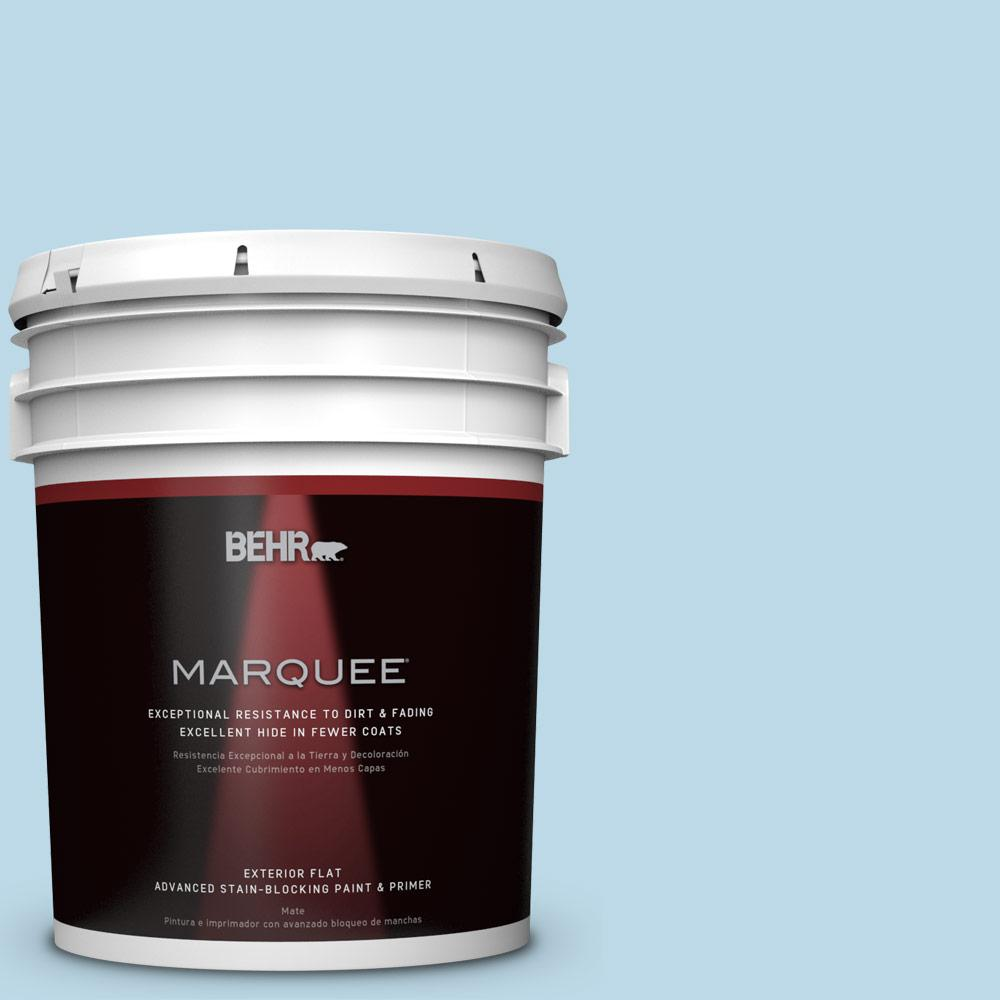 BEHR MARQUEE 5-gal. #M500-1 Tinted Ice Flat Exterior Paint-445005 - The