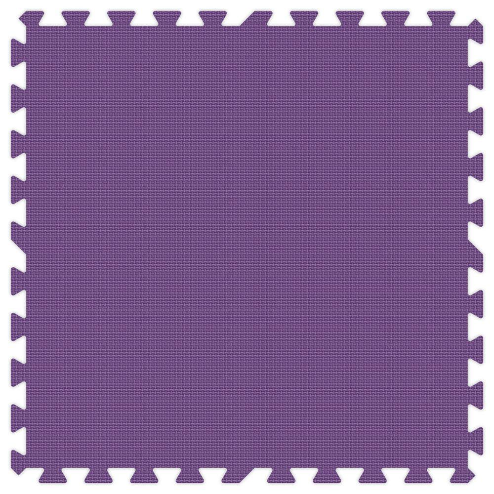 Purple 24 in. x 24 in. Comfortable Mat (100 sq.ft. /